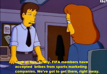Mulder and Scully on the FIFA scandal