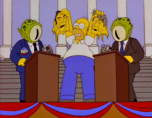 kang and kodos election free speech simpsons