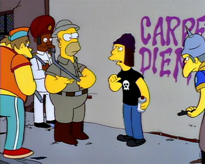 homer the vigilante capre diem free speech absolutist