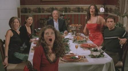 santa slay dinner scene