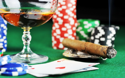 Cigar Wine and PlayChips